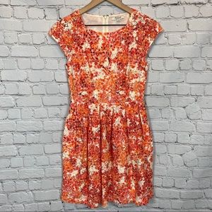 Madewell Watercolor Painted Laceoom Dress Size 0
